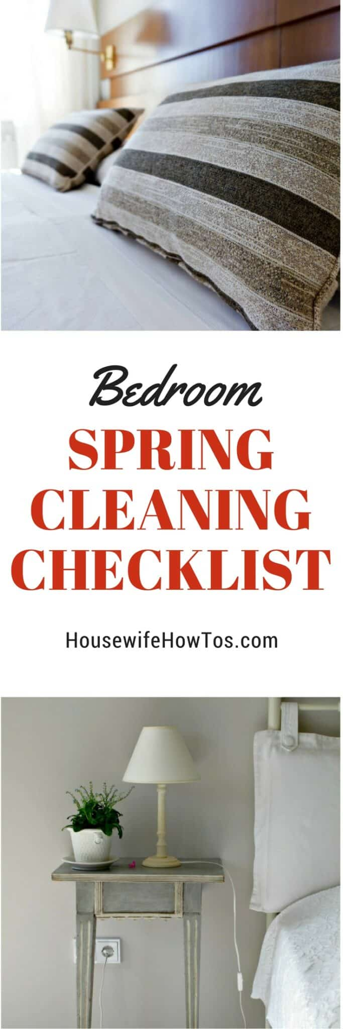 Bedroom Spring Cleaning Checklist - This is so thorough!
