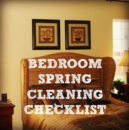 Bedroom spring cleaning checklist from HousewifeHowTos.com
