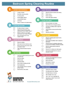 Spring Cleaning Checklist bedroom spring cleaning checklist - free printable!