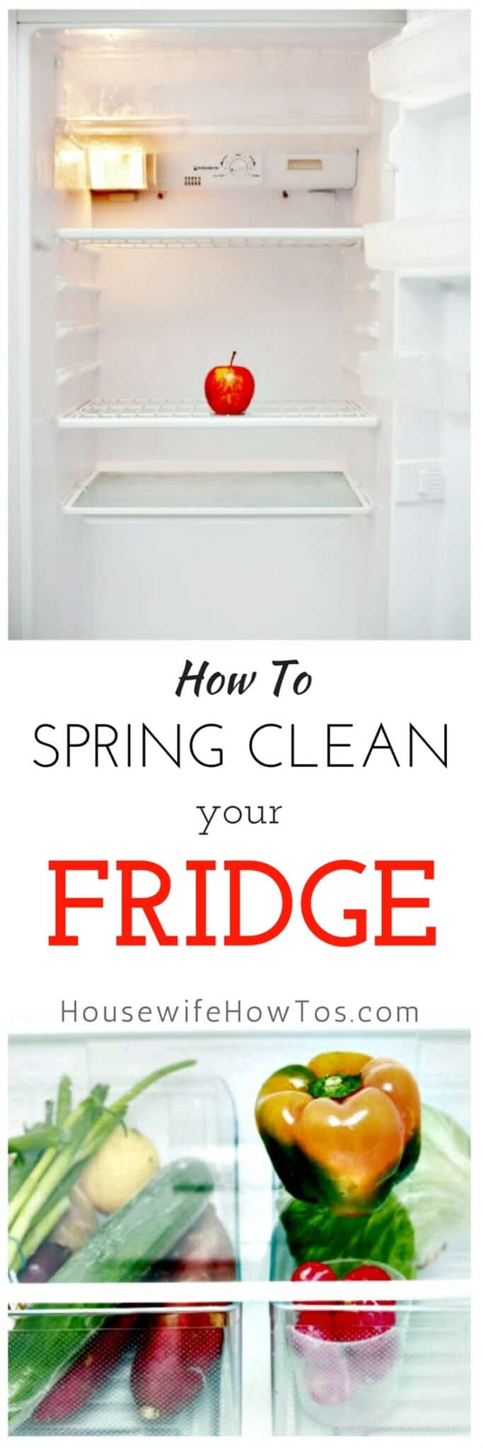A dirty refrigerator costs you money through increased food spoilage and additional energy use. Here's how to clean yours so it looks and works like new. #springcleaning #cleaning