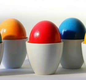 How to Naturally Dye Easter Eggs - Buff with a small amount of oil to make them shiny