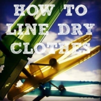 How to line dry clothes from HousewifeHowTos.com