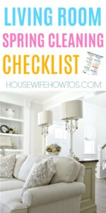 Living Room Spring Cleaning Checklist - Amazingly thorough! #cleaningchecklist #springcleaning #deepcleaning #cleaningroutine #cleaning