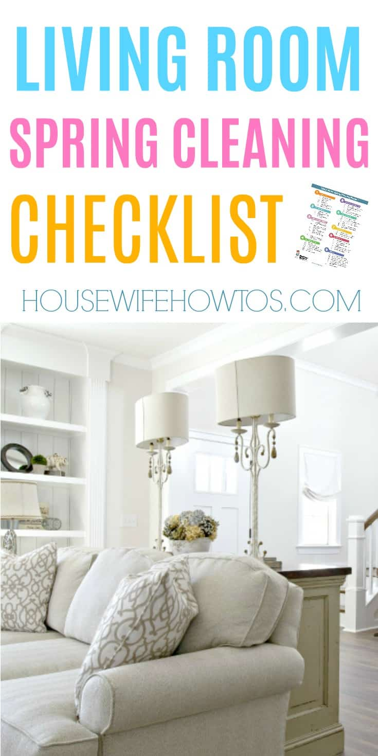 Living Room Spring Cleaning Checklist   Amazingly Thorough!  #cleaningchecklist #springcleaning #deepcleaning #