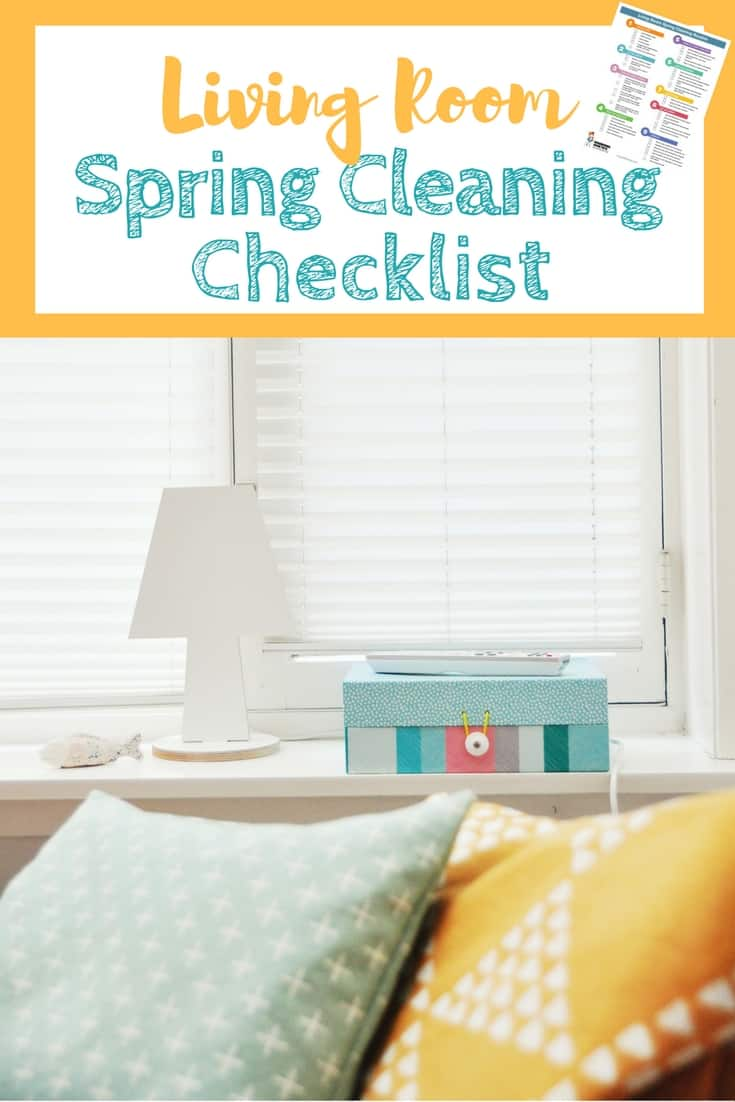 Living Room Spring Cleaning Checklist - Easy to follow deep cleaning checklist that gets my living room looking amazing every time! | Find more at HousewifeHowTos.com
