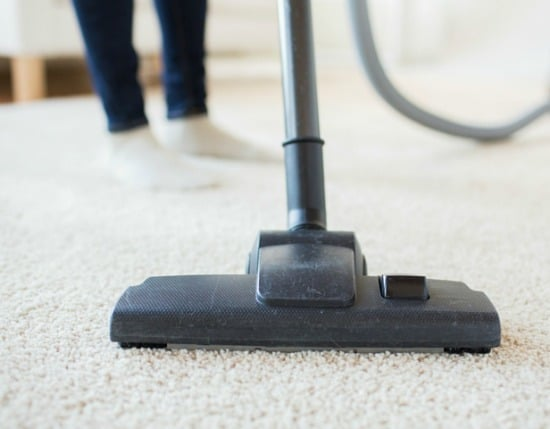 Living Room Spring Cleaning Checklist - Vacuum everything