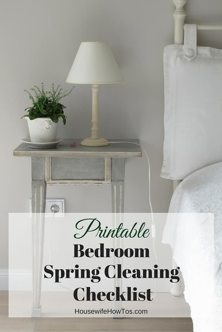 Pin Bedroom Spring Cleaning Checklist