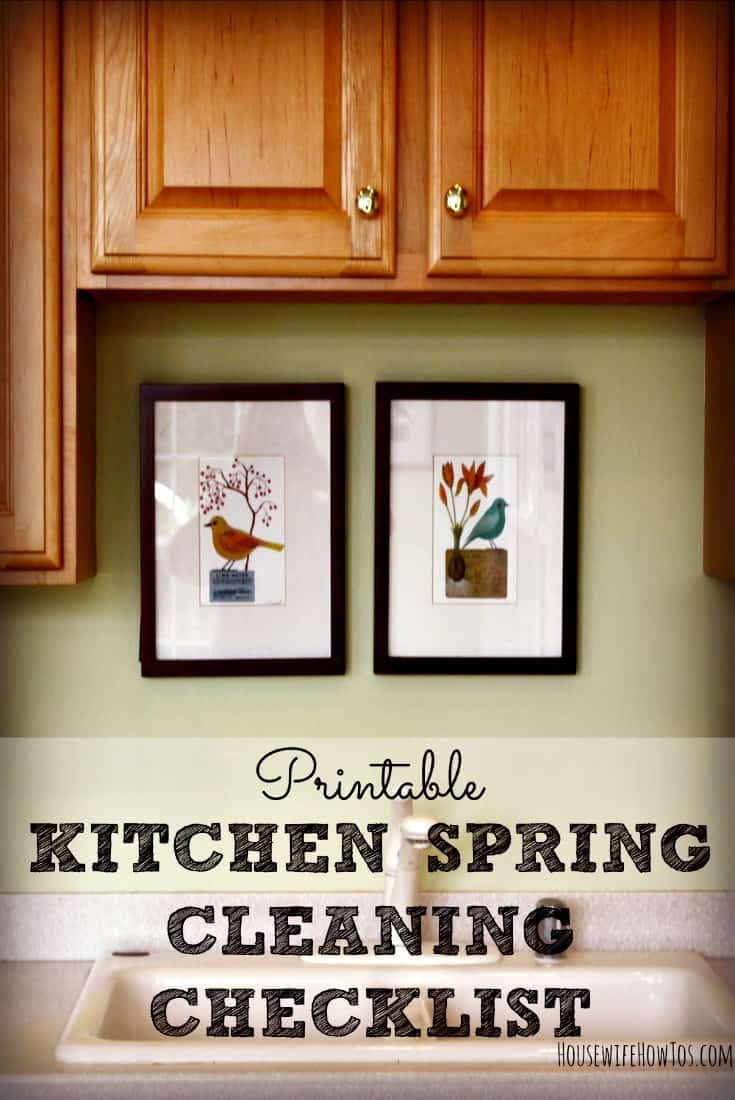 Pin Kitchen Spring Cleaning Checklist Printable from HousewifeHowTos