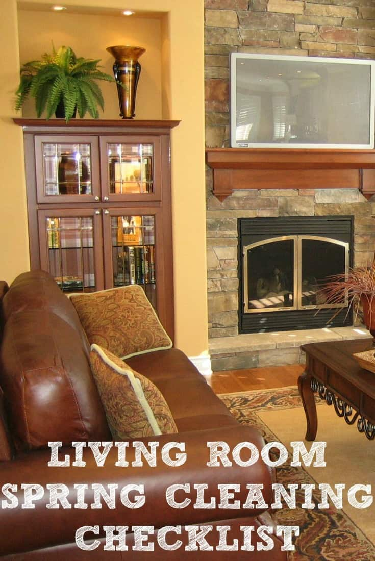 Pin Living Room Spring Cleaning Checklist