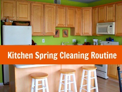 Printable Kitchen Spring Cleaning Routine from HousewifeHowTos.com