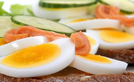 Recipes Using Hard boiled Eggs - Smoked salmon, cucumber, and egg sandwich