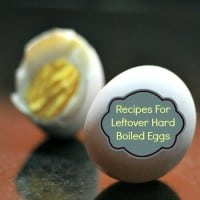 Recipes for leftover hard boiled eggs from HousewifeHowTos.com