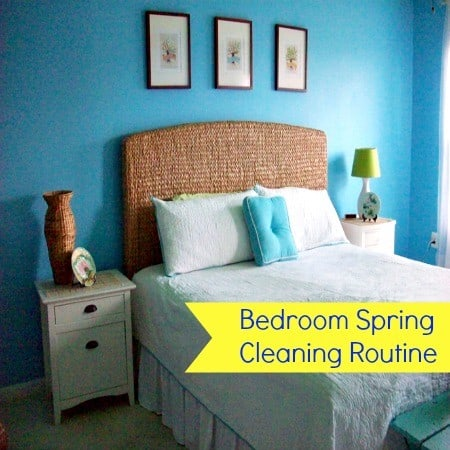 bedroom spring cleaning routine printable from