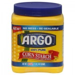 Use cornstarch to remove certain stains