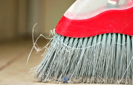 Garage Cleaning Checklist - Sweep everything from the ceiling to the floor