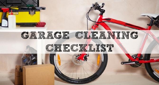 Garage Cleaning Checklist