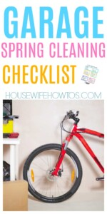 Garage Spring Cleaning Checklist - So clean and organized now! #springcleaning #cleaning #deepcleaning #garage #homeorganization #garageorganization #garagecleaning