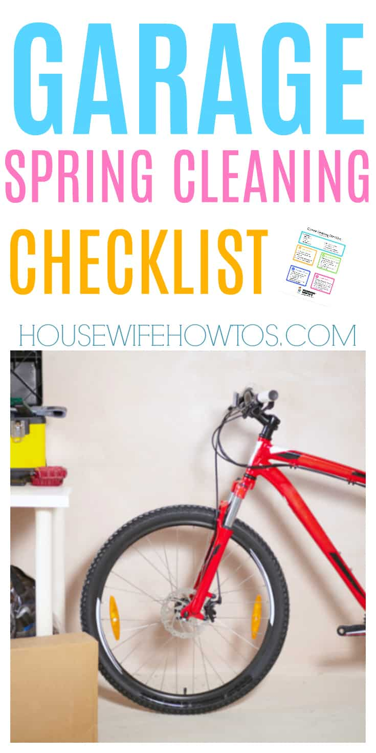 Garage Spring Cleaning Checklist | I love the idea of using zones to organize the garage! #springcleaning #cleaning #deepcleaning #organizing #cleaningchecklist