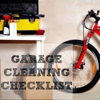 Garage cleaning checklist from HousewifeHowTos.com