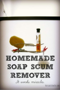 Homemade soap scum remover no scrubbing required for Bathroom soap scum removal