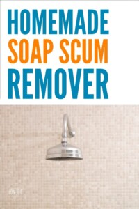 Homemade Soap Scum Remover - Just 2 ingredients I already had but together they cut through soap grime and I didn't have to scrub! #homemadecleaner #cleaningmix #cleaning #cleaningadvice #homemaking