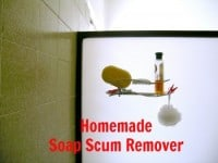 Homemade Soap Scum Remover from HousewifeHowTos.com