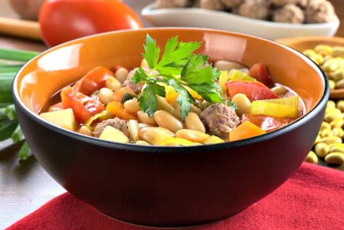 Meals using meatballs - Meatball and Vegetable Soup