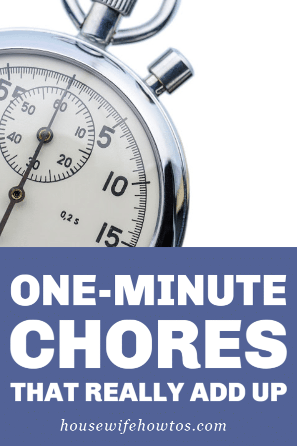 One-Minute Chores that Really Add Up