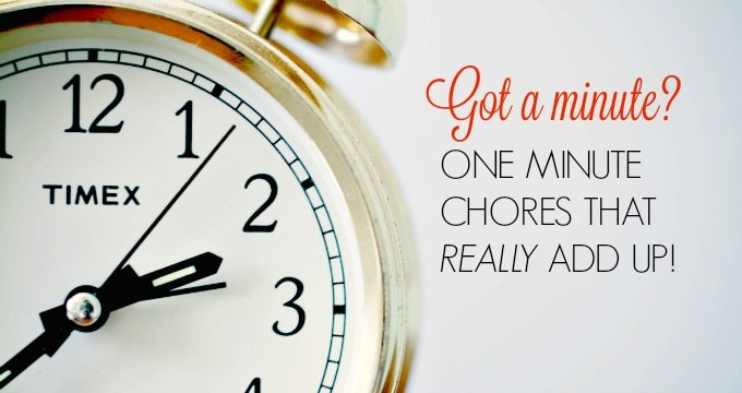 One Minute Chores