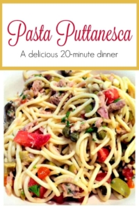 Pasta Puttanesca - Love this meal and I had no idea about the funny origins of its name