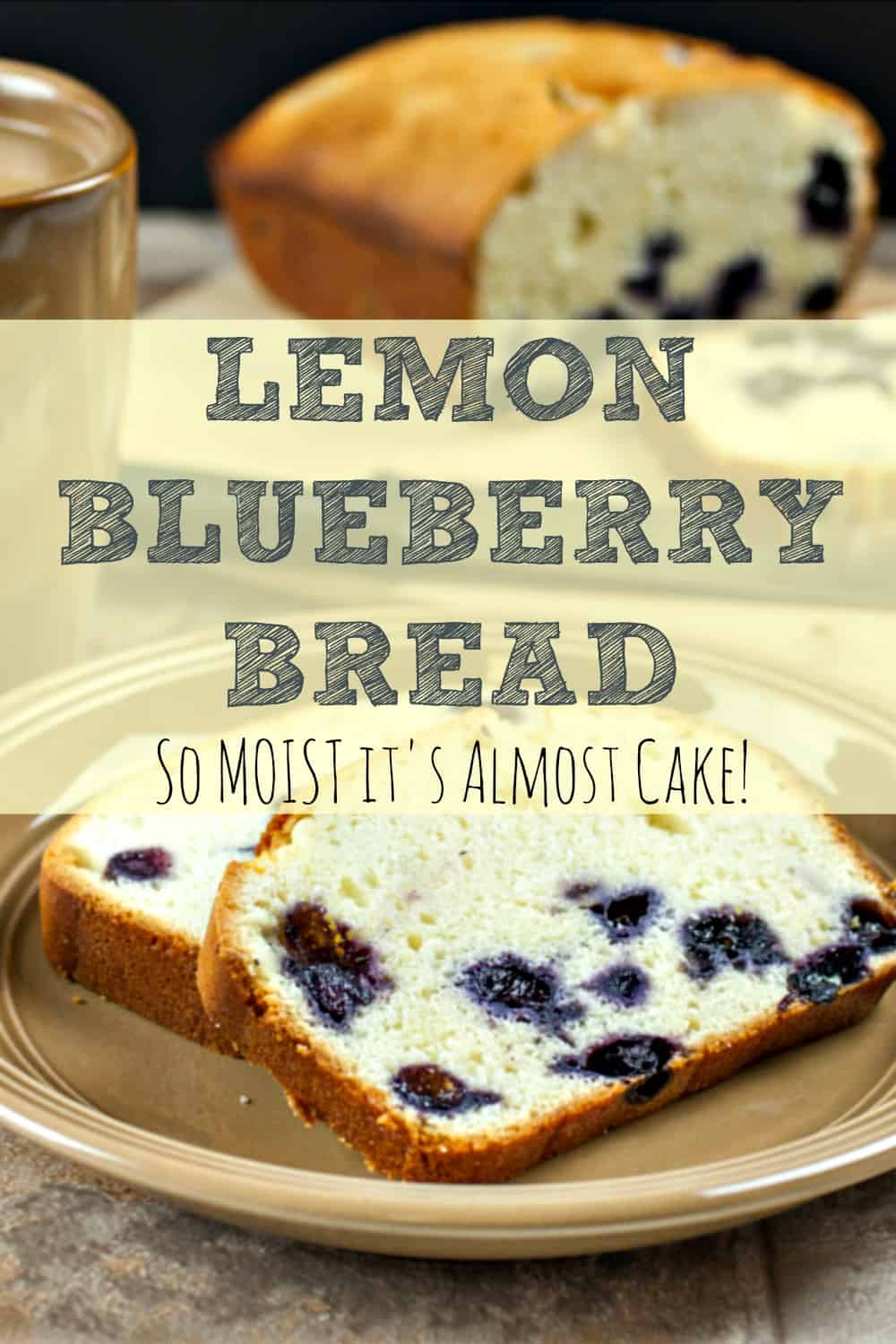 Lemon Blueberry Bread - So yummy and it freezes well so you can always have it on hand! | via HousewifeHowTos.com