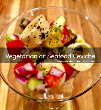 How to make vegetarian or seafood ceviche from HousewifeHowTos.com