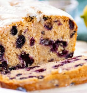 Whole Wheat Lemon Blueberry Bread Recipe