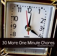 30 More One Minute Chores from HousewifeHowTos.com