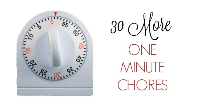 30 More One Minute Chores