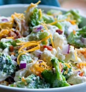 Broccoli Cauliflower Bacon Salad Recipe