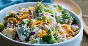 Broccoli, Cauliflower and Bacon Salad Recipe