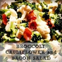 Broccoli, Cauliflower and Bacon Salad Recipe