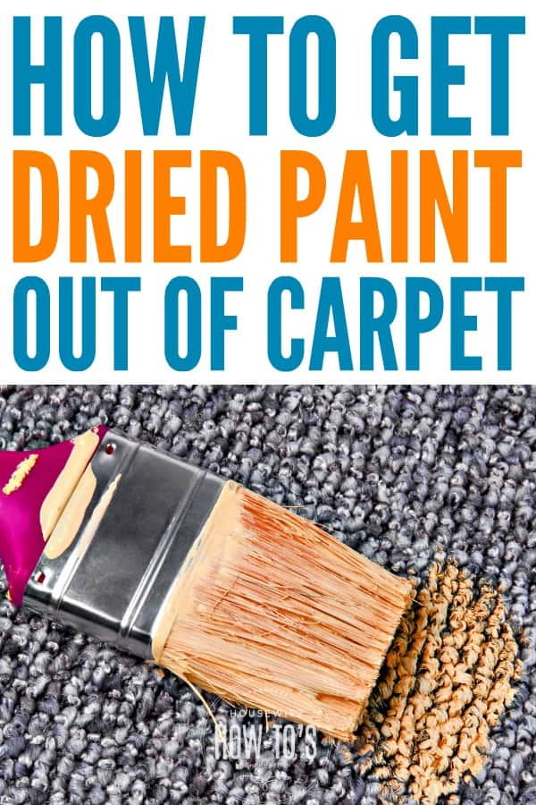 How To Get Dried Paint Out Of Carpet Along With Other