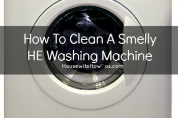 How To Clean A Smelly HE Washer