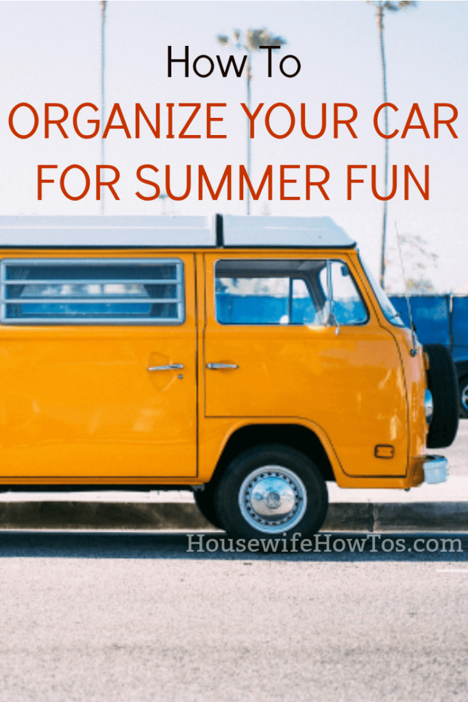 How to organize your car for summer fun | Moms know that spontaneous fun takes planning. This is how I keep my car ready for road trips and day trips all year long.