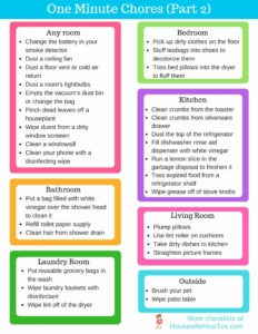 Quick One-Minute Chores