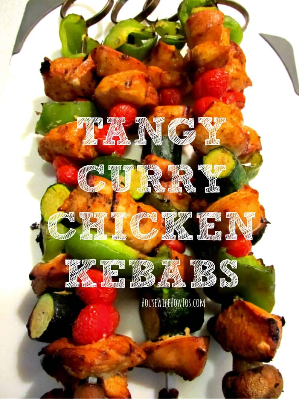 These Tangy Curry Chicken Kebabs are a family favorite!