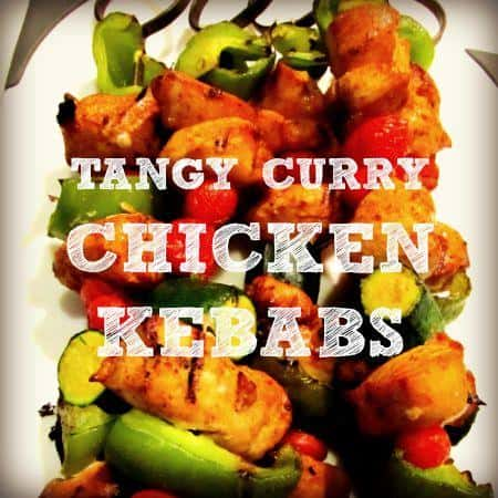 Tangy curry chicken kebab recipe from HousewifeHowTos.com