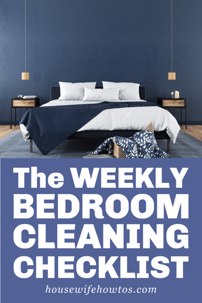 Weekly Bedroom Cleaning Routine