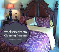 Weekly Bedroom Cleaning Routine from HousewifeHowTos.com