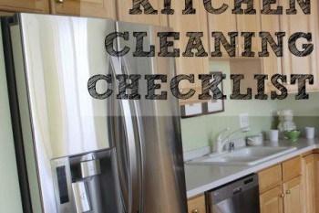 Weekly Kitchen Cleaning Checklist