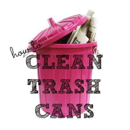 how to clean trash cans from HousewifeHowTos