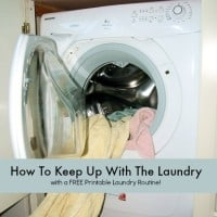 How to keep up with the laundry from HousewifeHowTos.com