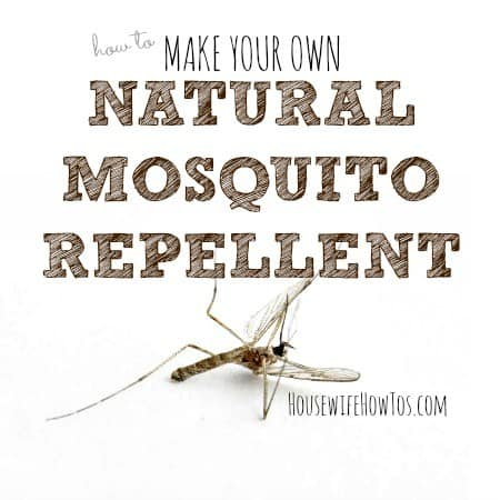 How to make natural mosquito repellent spray from HousewifeHowTos.com